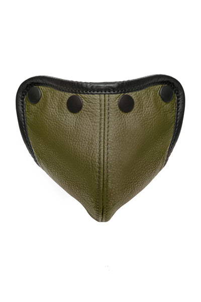 Army green leather standard codpiece