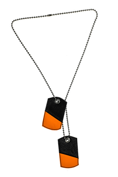 LEATHER DOG TAGS - Colour