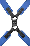 Blue leather commander harness