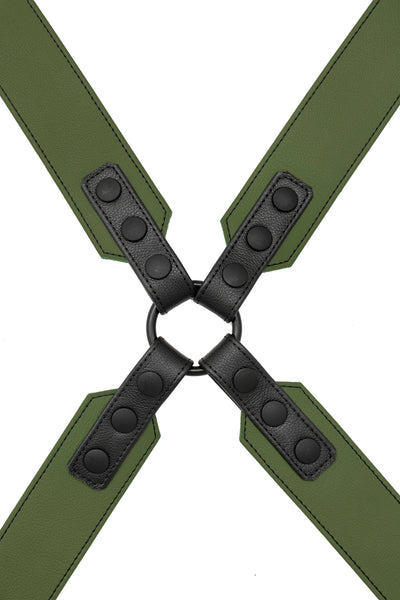 Army green leather sergeant harness
