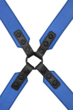 Blue leather sergeant harness