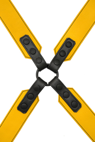 Yellow leather sergeant harness