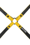 Yellow leather shoulder harness lining