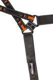 orange leather universal x harness lining