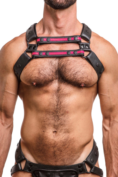 Model wearing universal x harness