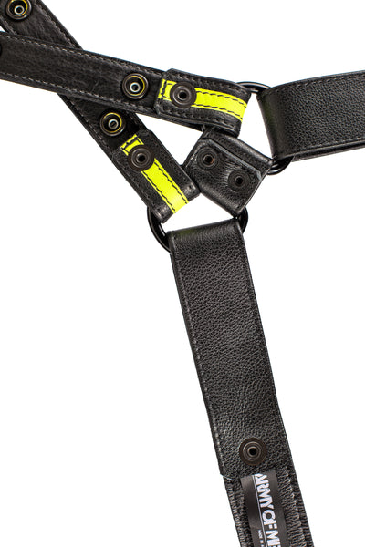 Yellow leather universal x harness lining