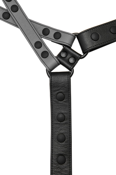 Grey leather universal x harness