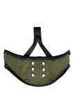 Deluxe leather muzzle army green