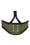 Army green leather muzzle