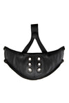 Black leather muzzle