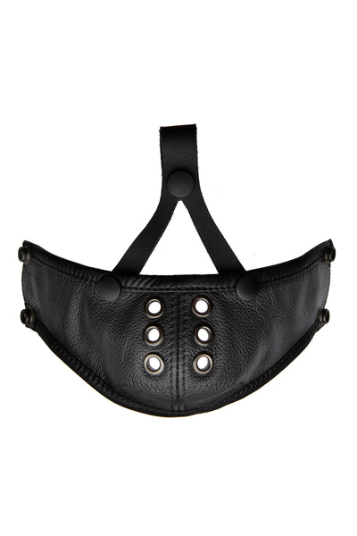 Deluxe leather muzzle black