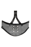 Grey leather muzzle