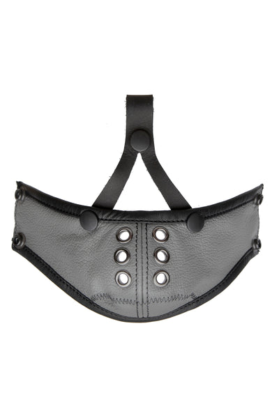 Deluxe leather muzzle grey
