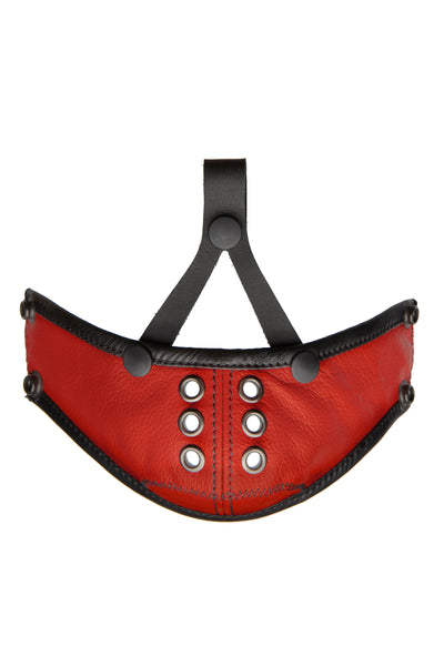 Deluxe leather muzzle red