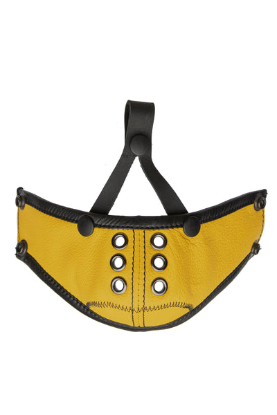 Deluxe leather muzzle yellow