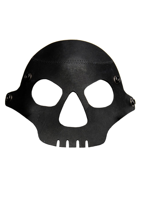 Black leather skull face mask