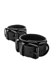Black leather ankle restraints
