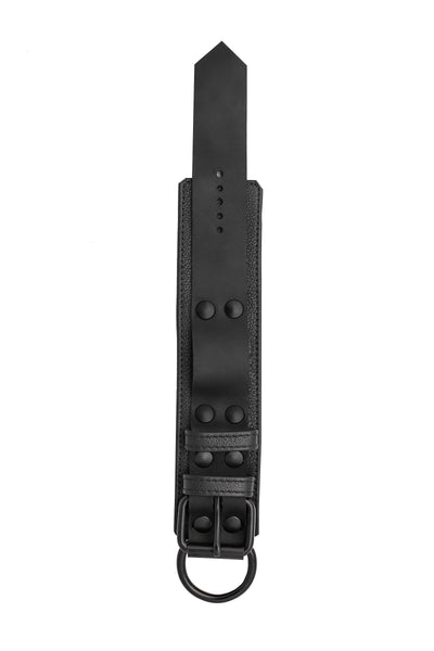 Black leather wrist restraints