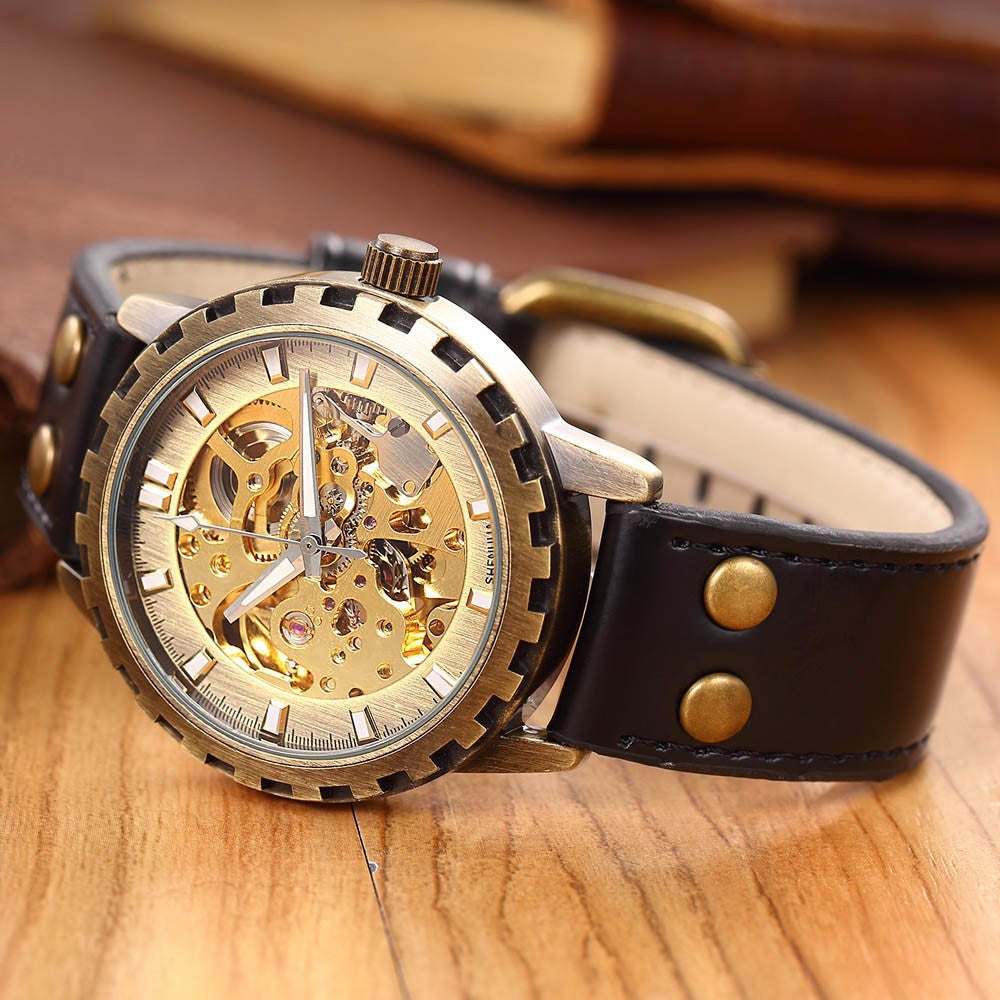 Steampunk Leather Watch