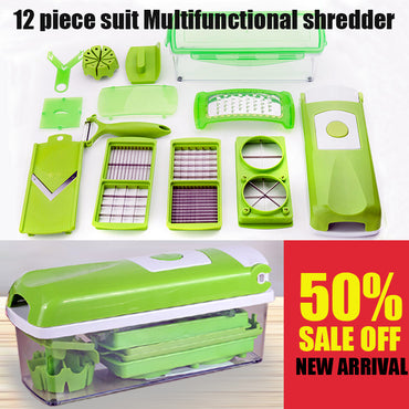 12-in-1 Multifunctional Stainless Steel Vegetable Slicer