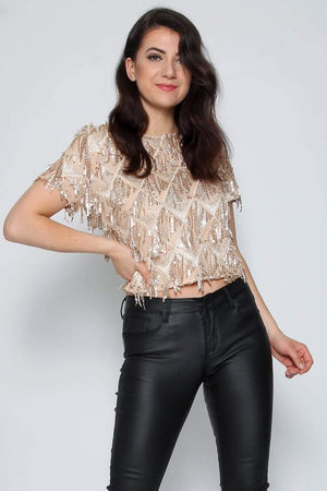 Chi london Tøj S Sequin Top