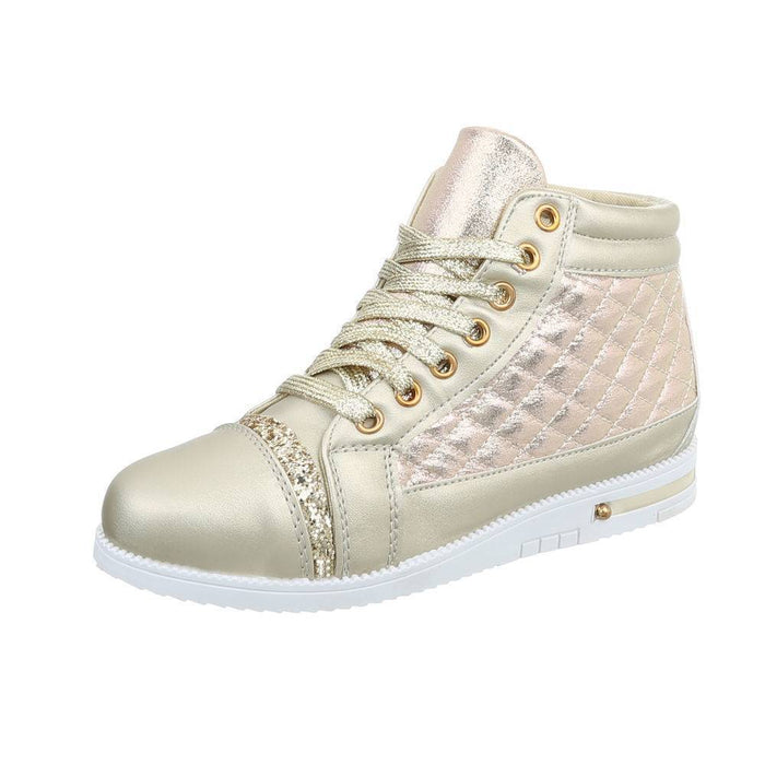 Sneakers high - gold