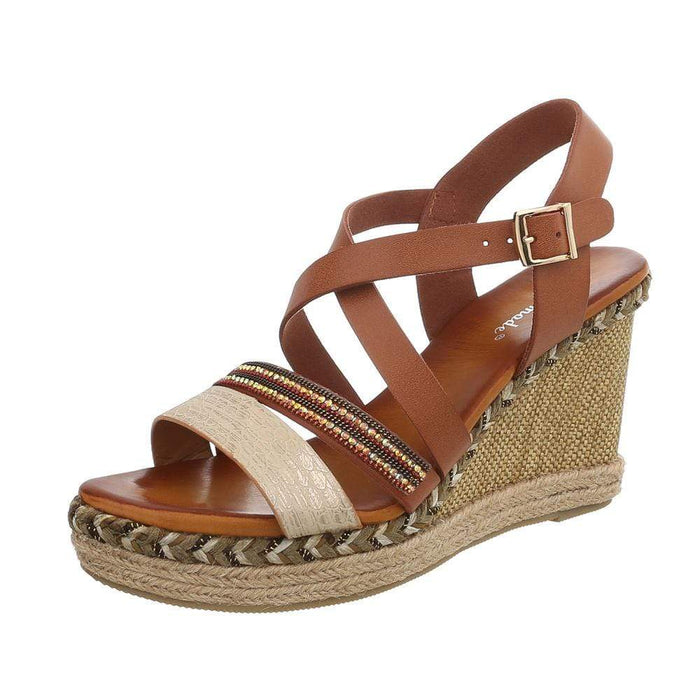 Plateau sandaler, wedge