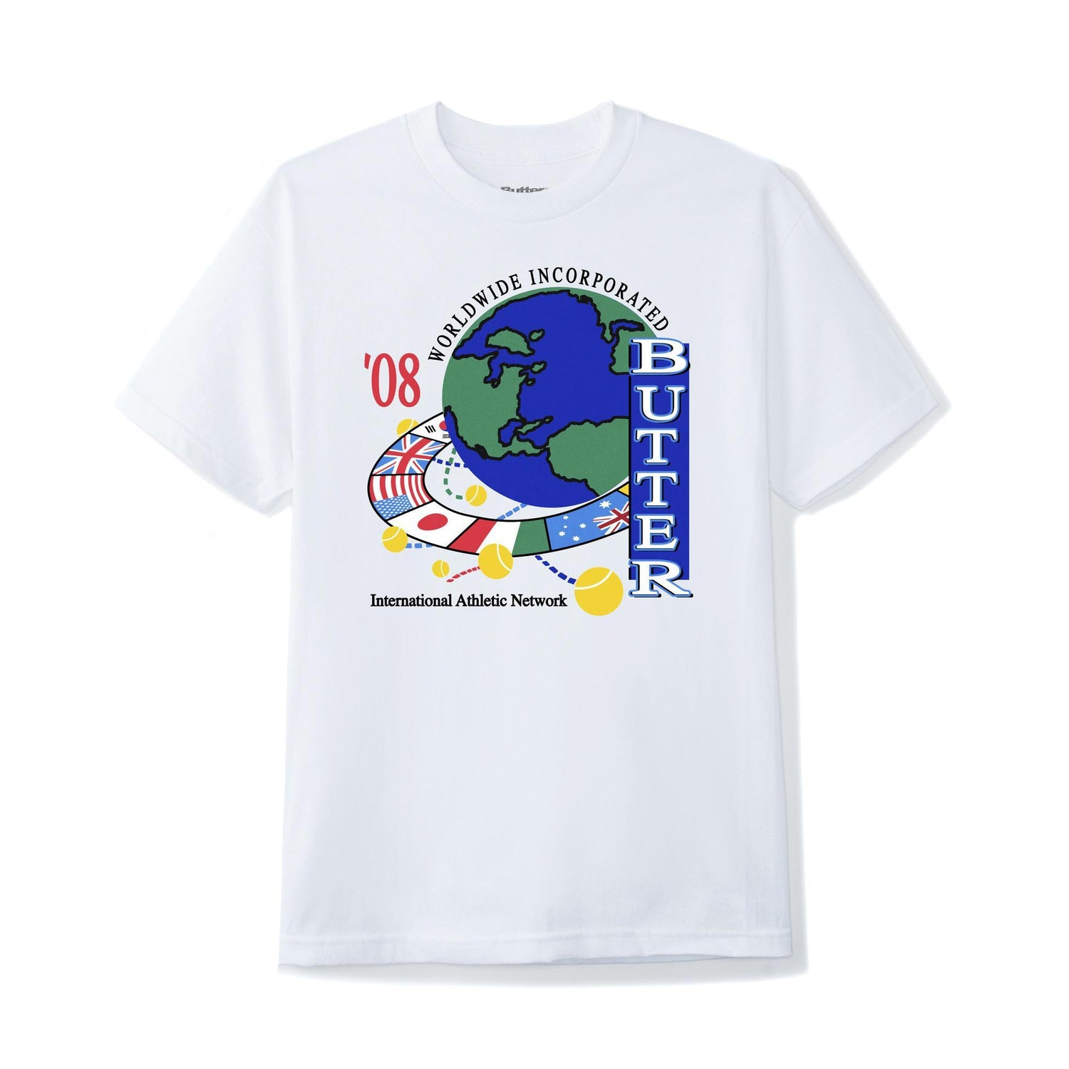 Athletic Network Tee, White