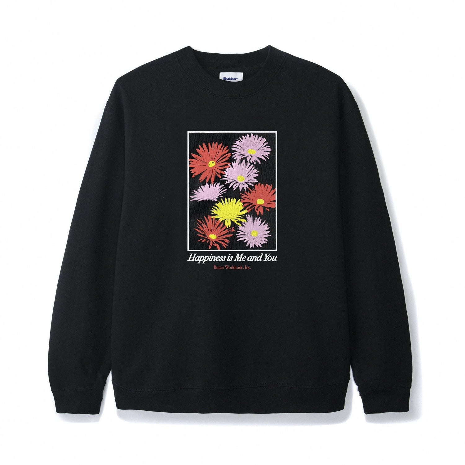 Happiness Crewneck, Black