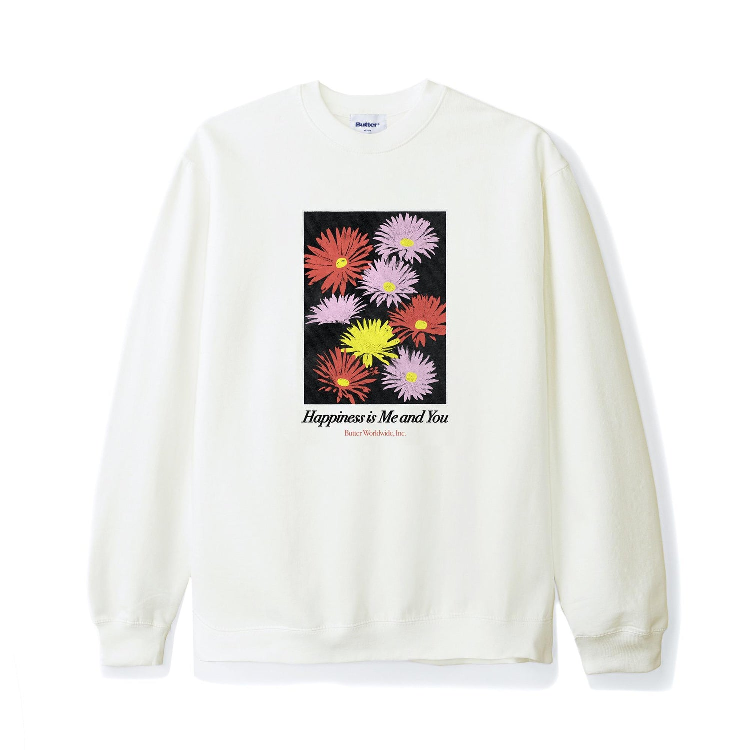 Happiness Crewneck, Bone