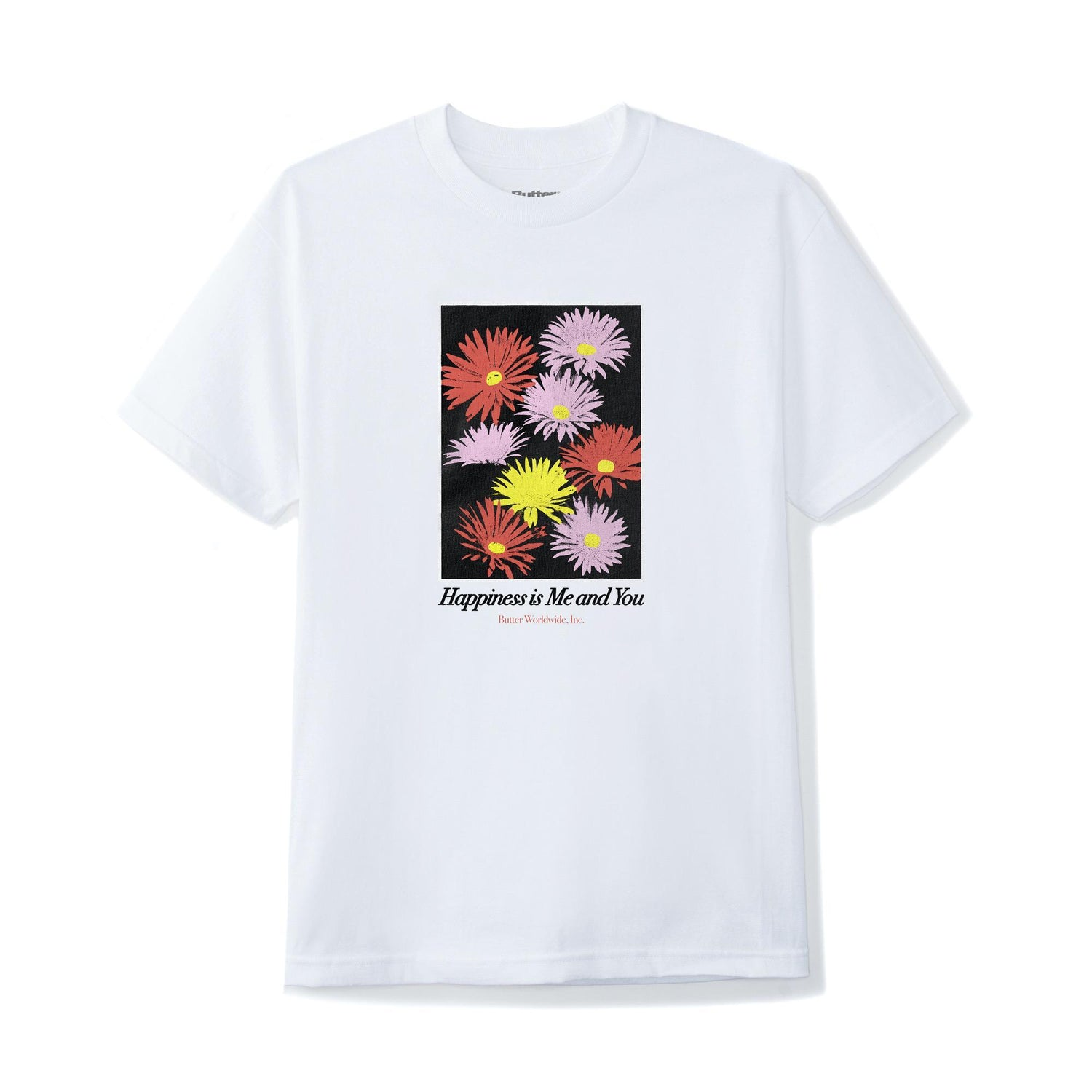 Happiness Tee, White