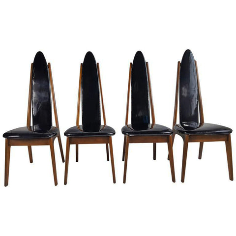 Set of Four High Back Chairs in the Manner of Adrian Pearsall
