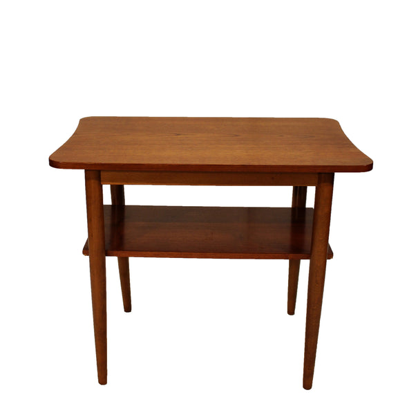 Danish Teak Two Tier Table