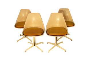 Set of Four Burke Swivel Side Chairs