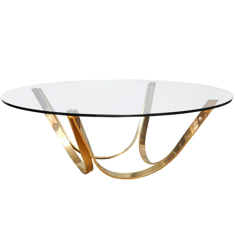 Roger Sprunger for Dunbar Bronze and Glass Table
