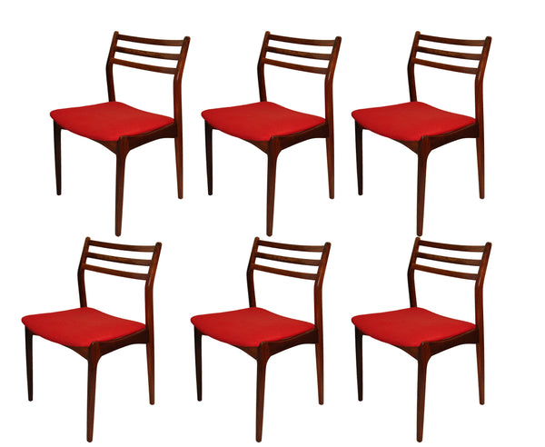Set of Six Vestervig Eriksen Solid Rosewood Dining Chairs