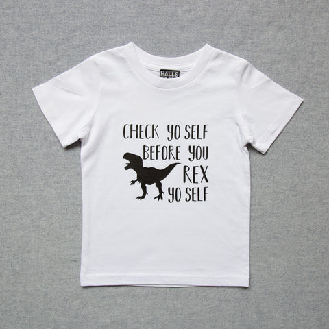 Check Yo Self T-Rex Tee