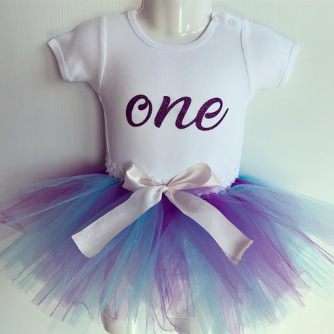 First Birthday Tutu Set - Purple