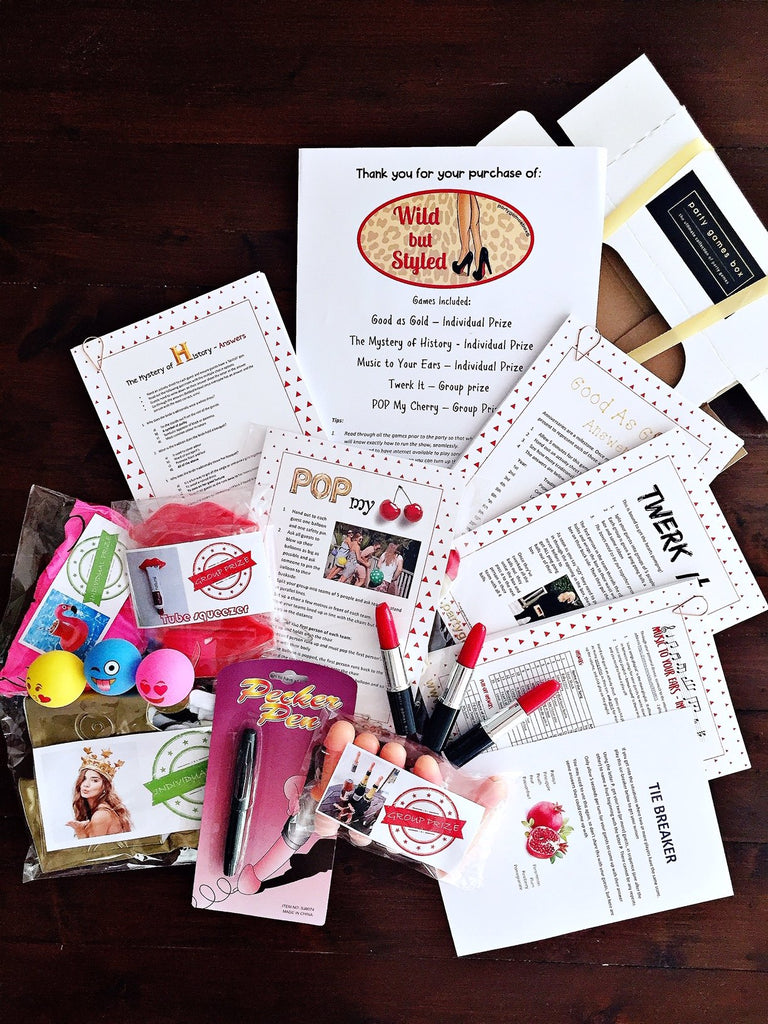 Hen party games box hens party games