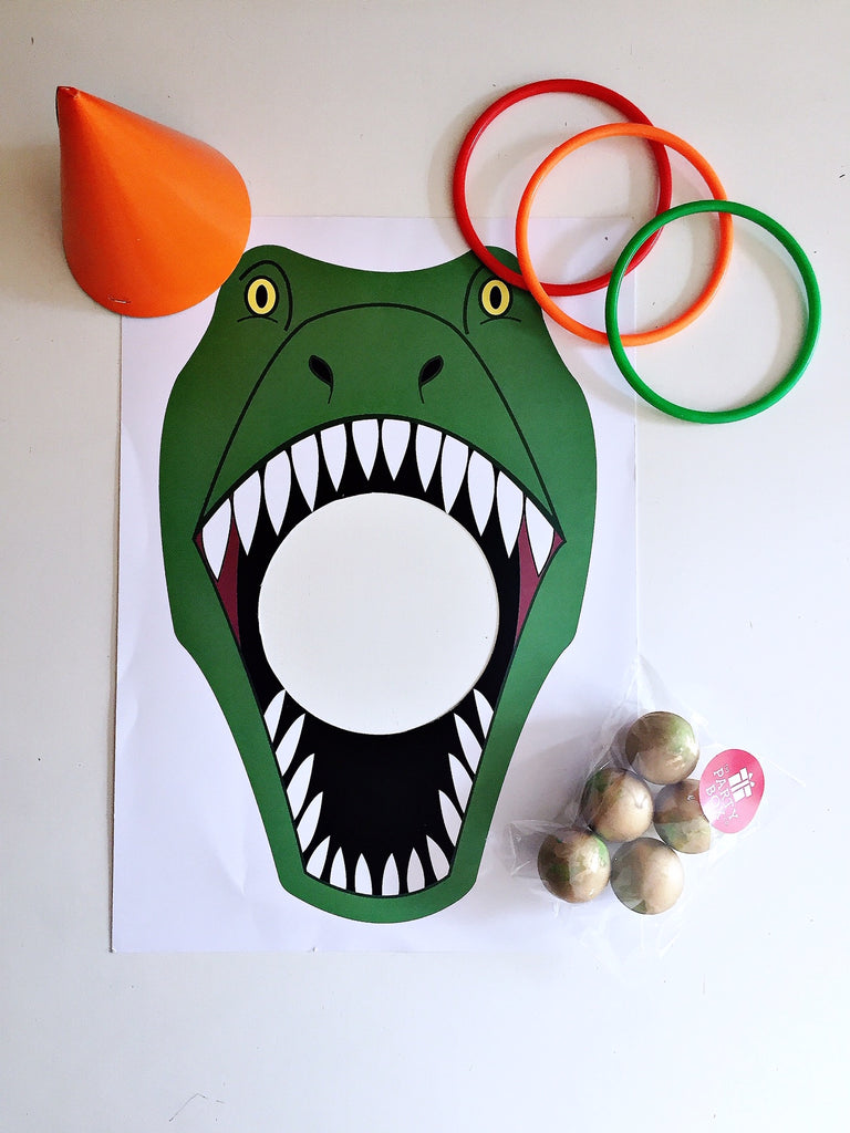 Dinosaur party games box