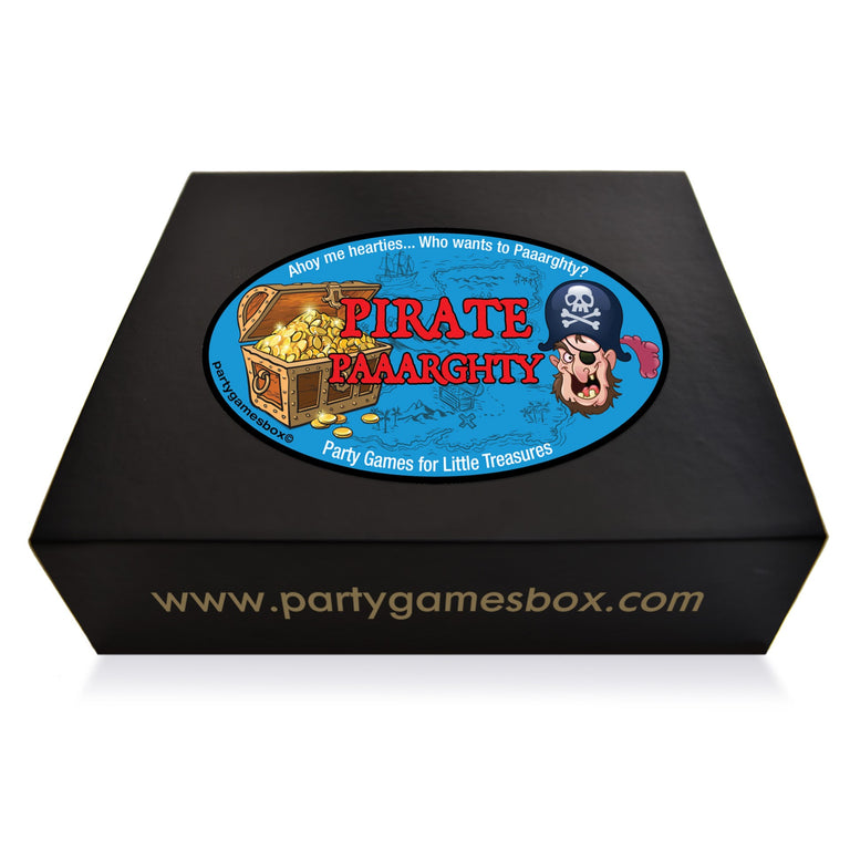 Pirate party games box