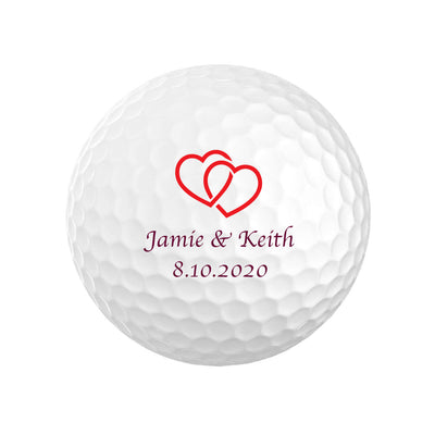 Heart Wedding Golf Balls