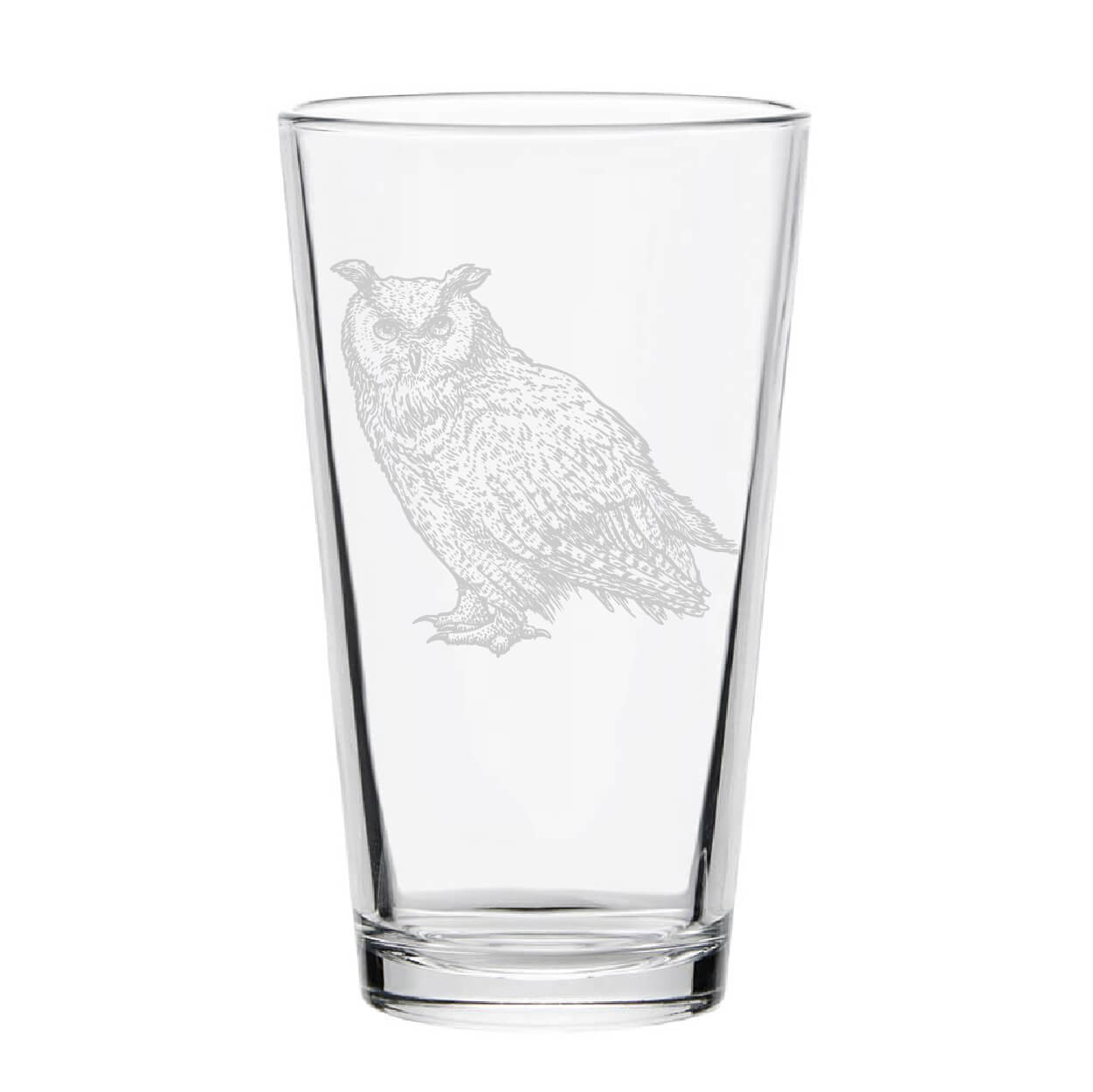 Owl Pint Glass