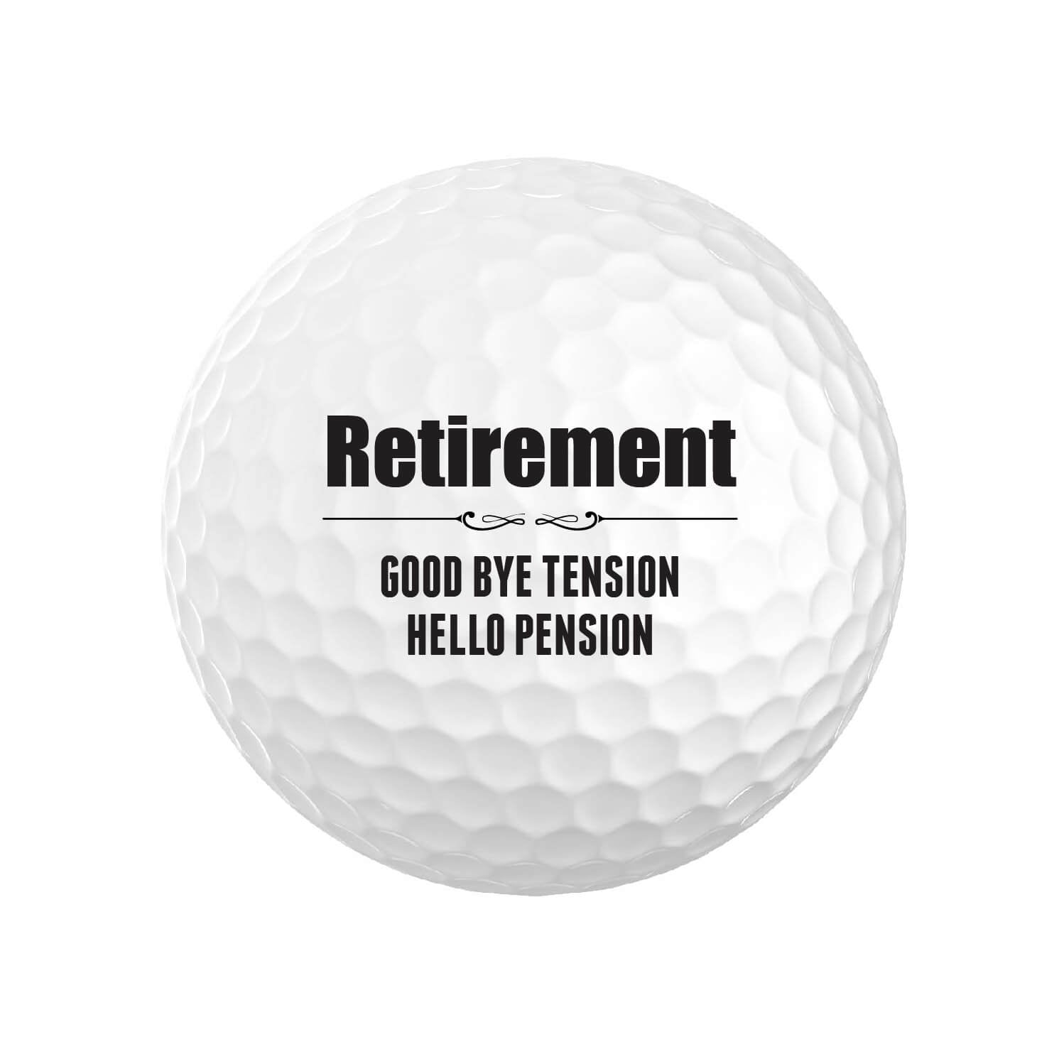Funny Retirement Golf Balls