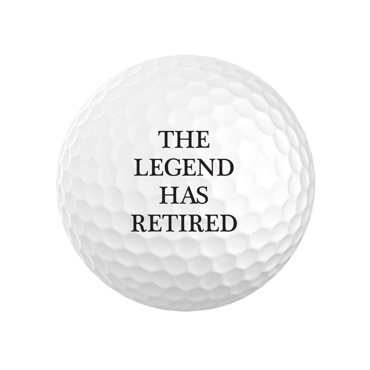 The Legend Has Retired Golf Balls
