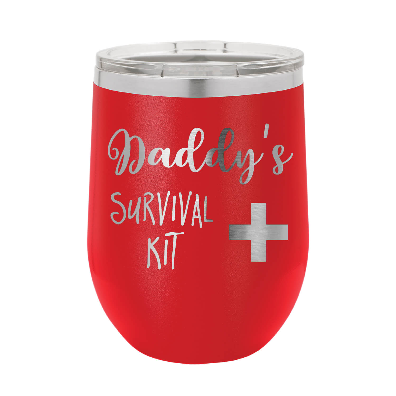 Daddy's Survival Kit Wine Tumbler