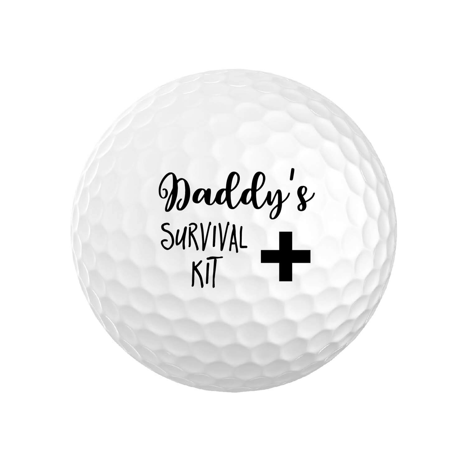 Daddy's Survival Kit Golf Balls