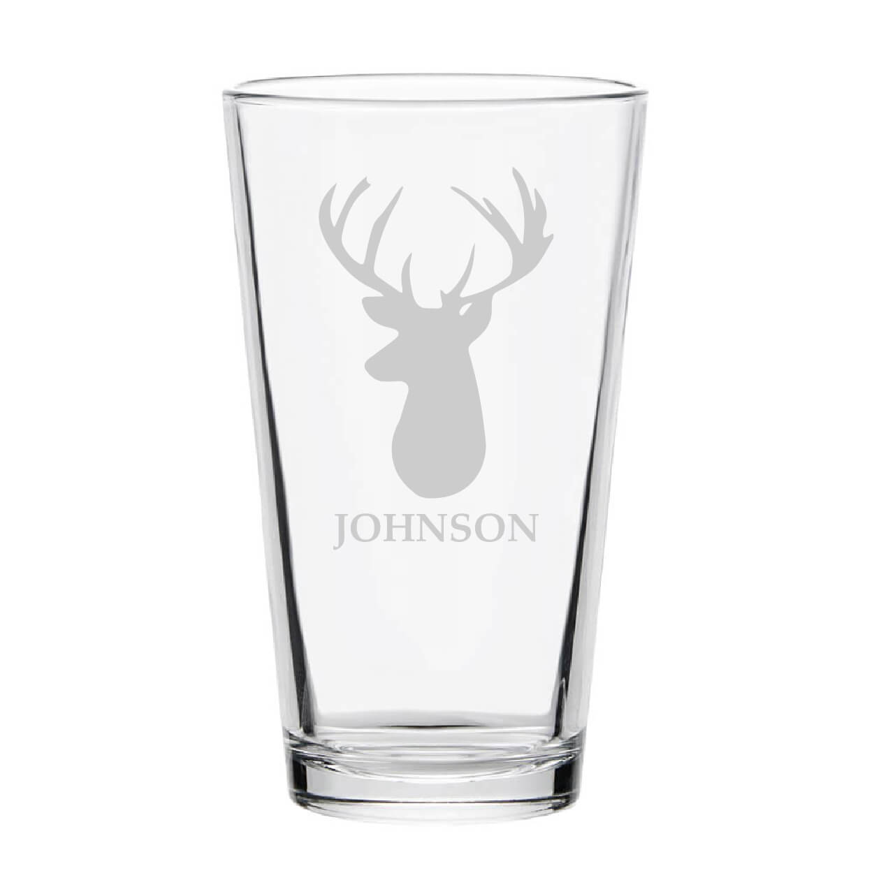 Personalized Deer Pint Glass