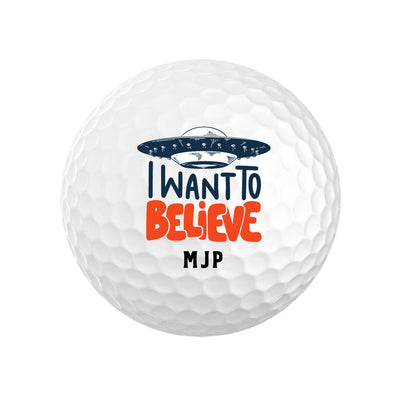 I Want to Believe Golf Balls