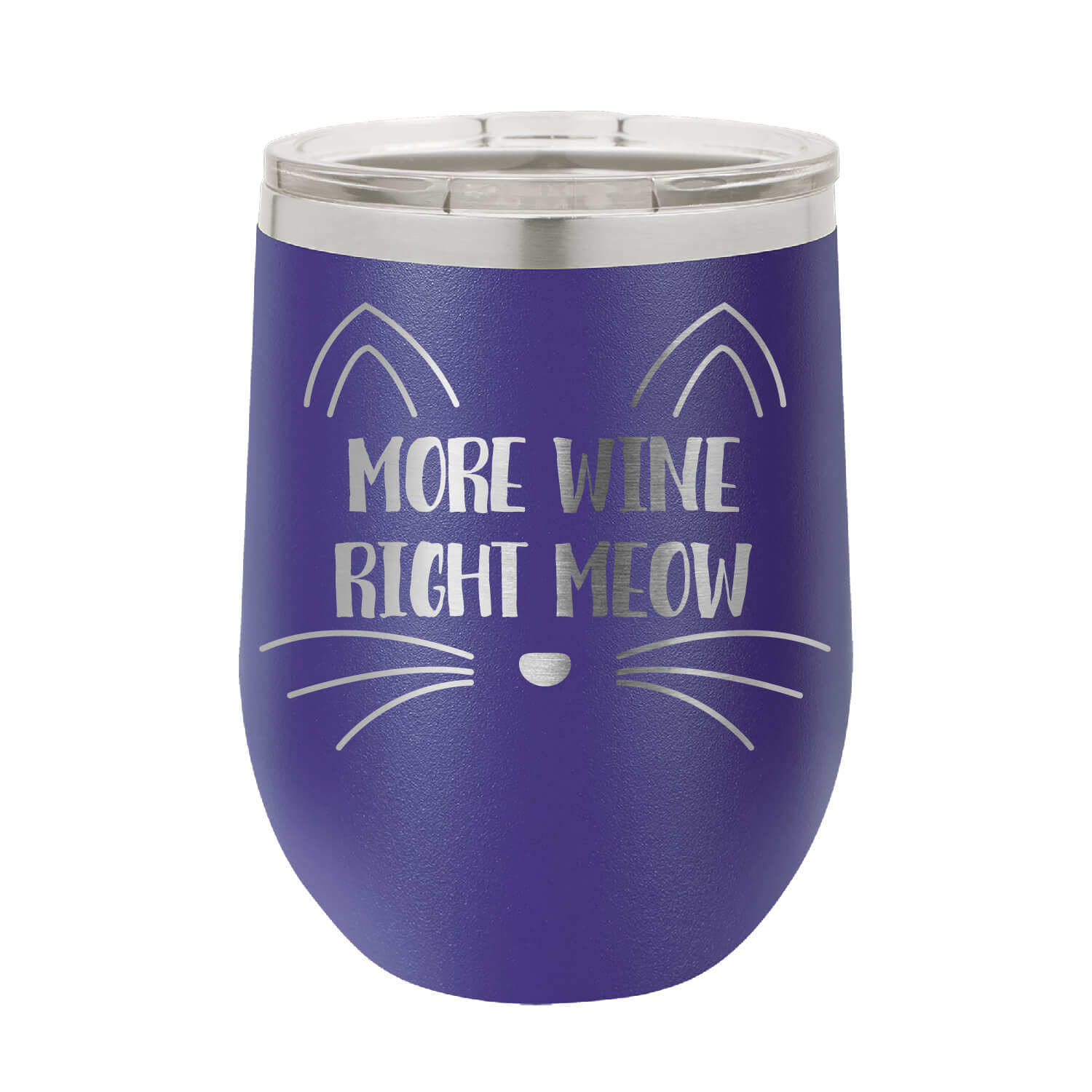 More Wine Right Meow Wine Tumbler